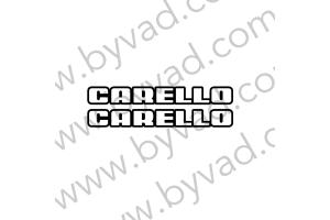 2 autocollants Carello