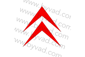 Sticker de toit Citroen Chevrons