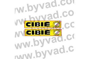 2 Stickers CIBIE RACING TEAM