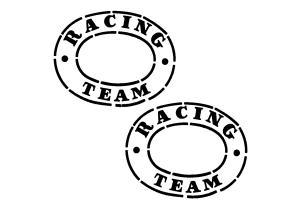 2 Autocollants Racing Team CIBIE