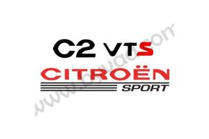 Sticker Citroen Sport - C2 VTS
