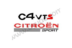 Sticker Citroen Sport - C4 VTS