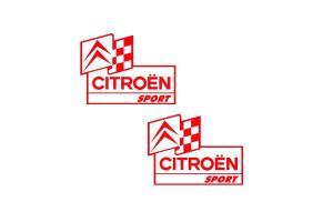2 Sticker Citroen Sport