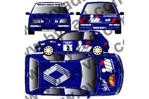 Kit déco Clio IMI Promotions - Rallye du Var 1991