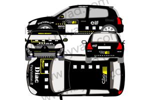 Kit déco clio RS2 version Clio TEAM