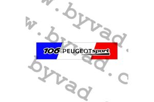 Cache plaque immatriculation 106 PEUGEOT SPORT FRANCE