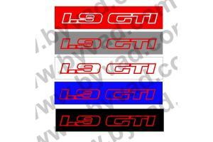 Cache plaque immatriculation 205 GTI 1.9L