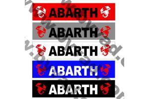 Cache plaque immatriculation FIAT ABARTH