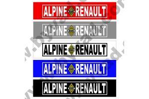 Cache plaque immatriculation ALPINE