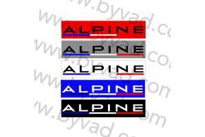 "Cache plaque immatriculation ALPINE ""FRANCE"""