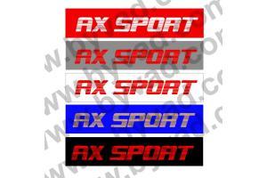 Cache plaque immatriculation AX Sport