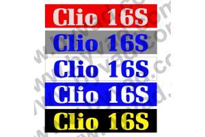 Cache plaque immatriculation Renault Clio 16S