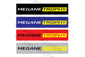 Cache plaque immatriculation MEGANE TROPHY
