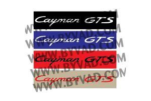 Cache plaque immatriculation PORSCHE CAYMAN GTS
