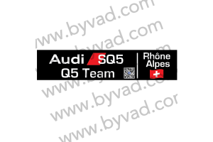 Cache plaque immatriculation Q5 SQ5 TEAM RHONE ALPES