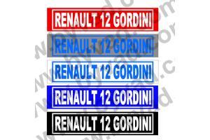 Cache plaque immatriculation Renault R12 Gordini