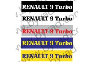 Cache plaque immatriculation Renault 9 Turbo