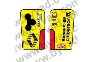 Sticker carte Renault 3 boutons R5 Alpine Calberson