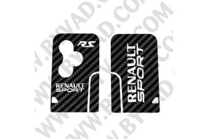 Sticker carte Renault 3 boutons Renault Sport