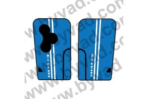 Sticker carte Renault 3 boutons Gordini