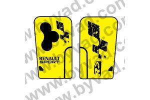 Sticker carte Renault 3 boutons Clio R3