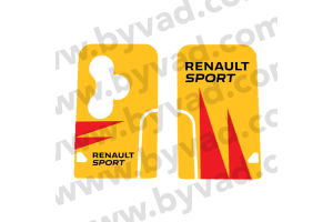 Sticker carte Renault 3 boutons Renault Sport RS18