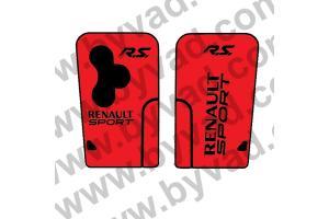 Sticker carte Renault 3 boutons RS Renault Sport