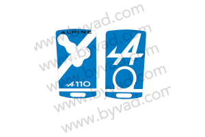 Autocollant de carte Alpine 4 boutons A110