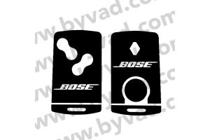 Sticker carte Renault 4 boutons BOSE