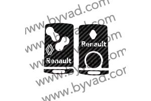Sticker carte Renault 4 boutons Renault logo 2021
