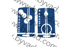 Sticker carte Renault 4 boutons GORDINI