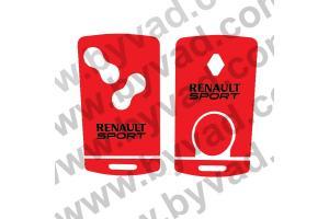 Sticker carte Renault 4 boutons RS Renault Sport
