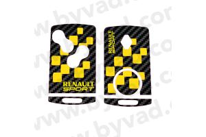 Sticker carte Renault 4 boutons Renault Sport