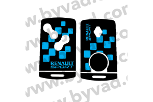 Sticker carte Renault 4 boutons Renault Sport Damier