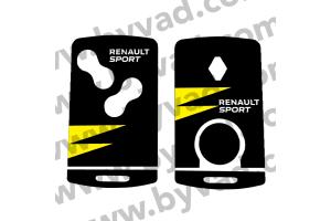 Sticker carte Renault 4 boutons RS18 Renault Sport