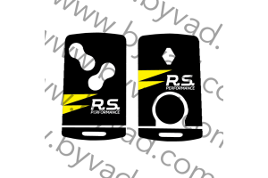 Sticker carte Renault 4 boutons RS PERFORMANCE