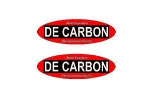 2 Stickers De Carbon Oval
