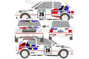 Kit déco Peugeot 205 GTI Ivens 88