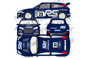 Kit déco rallye Ford Focus RS WRC 2002