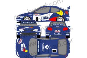 Kit déco Maxi Mégane Tour de Corse 1996