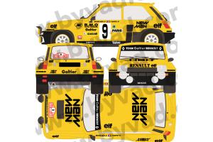 Kit déco R5 Turbo 2 Monte Carlo 1982