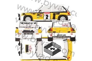 Kit déco R5 Turbo Jean Ragnotti Tour de Corse 1983