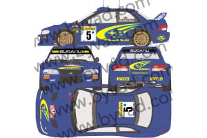 Kit déco SUBARU IMPREZA GT WRC Monte Carlo 1999 version FLUO