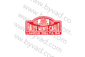 Autocollant Lancia Delta S4 Vainqueur Monte Carlo 1986
