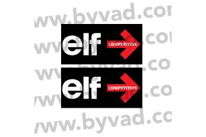 2 Autocollants ELF compétition noir