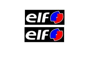 2 Autocollants ELF couleur sur fond