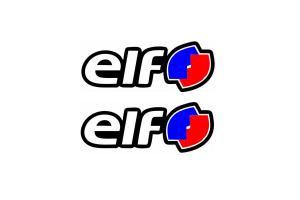 2 Autocollants ELF couleur