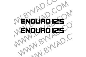Kit 2 Stickers ENDURO 125 pour DTMX