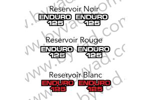 Deux stickers ENDURO 125