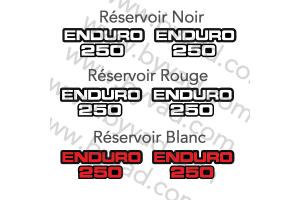 Deux stickers ENDURO 250